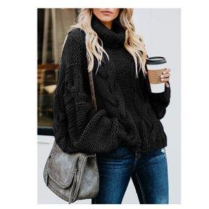 BRISTOL Chunky Knit Turtleneck Sweater